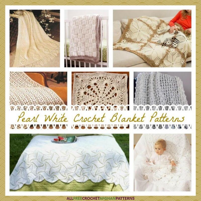 17 Pearl White Crochet Blanket Patterns ...