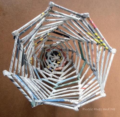 Diy Recycled Newspaper Tubes Bowl Favecrafts Com