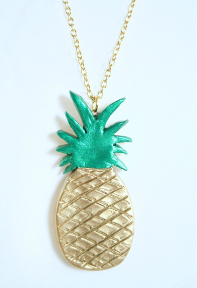 Gold DIY Pineapple Necklace