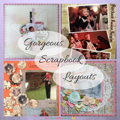 4 Gorgeous Scrapbook Layouts Allfreepapercrafts