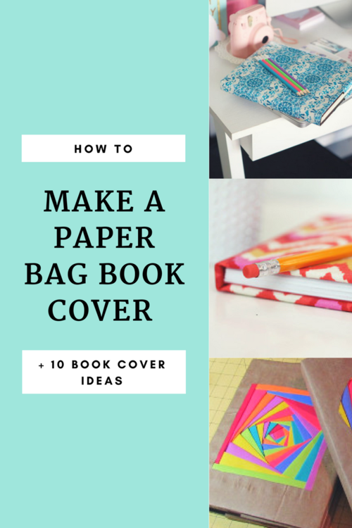 How To Book Cover Paper Bag ~ How to cover a book with creative ideas