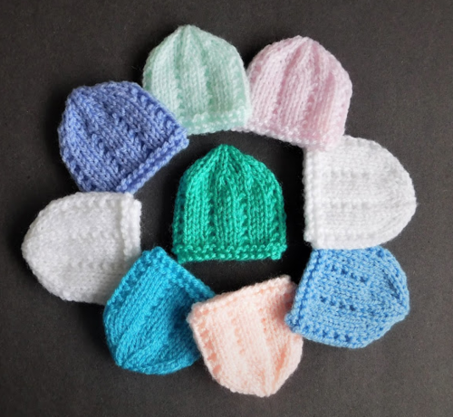 Dainty Micro-Preemie Hat Patterns