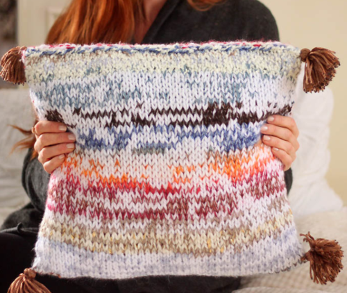 Yarn Stash DIY Pillow