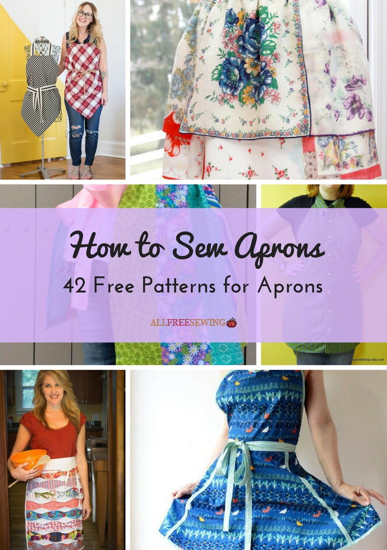 How to sew aprons 42 free patterns for aprons allfreesewing jeuxipadfo Gallery