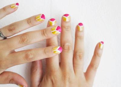 Bright Triangle Nail Art Tutorial Diyideacenter