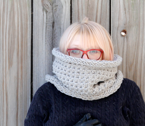 Long John Knit Cowl Pattern