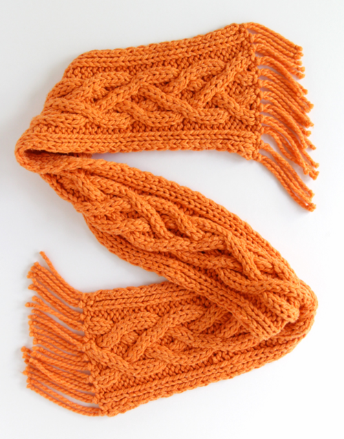 Quad Cable Knit Scarf Pattern Allfreeknitting