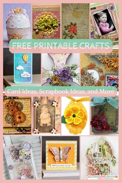 Free Printable Crafts 50 Handmade Card Ideas Scrapbook Layout Ideas and More Paper Crafts