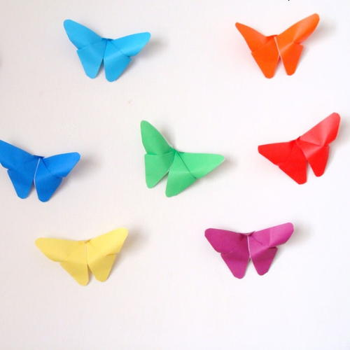 Colorful Origami Butterfly Decor