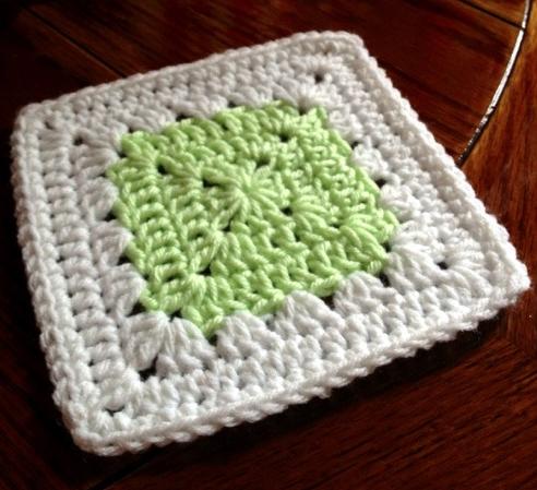 Simple Delicacy Granny Square Pattern | AllFreeCrochetAfghanPatterns.com