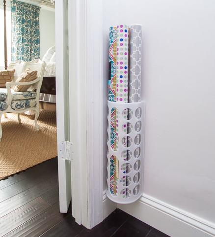 Wrapping Paper Organizer DIY IKEA Hack