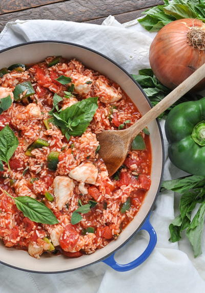 20-Minute Chicken Cacciatore with Rice