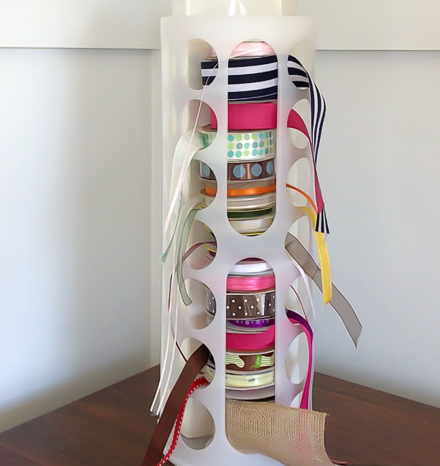 Ribbon Organizer DIY IKEA Hack