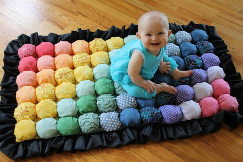 Bubble Puff Baby Quilt