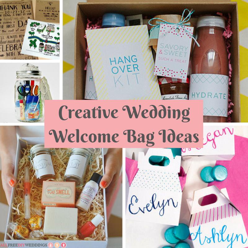 Creative Wedding Welcome Bag Ideas