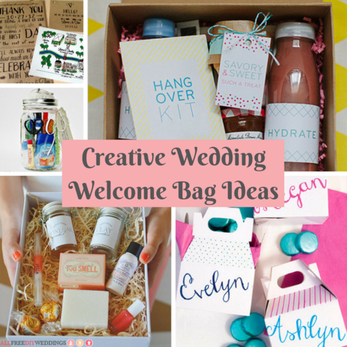 sweet welcome to your new home gift ideas. Creative Wedding Welcome Bag Ideas  AllFreeDIYWeddings com