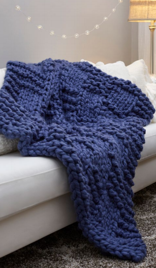 Basketweave Chunky Knit Blanket Pattern
