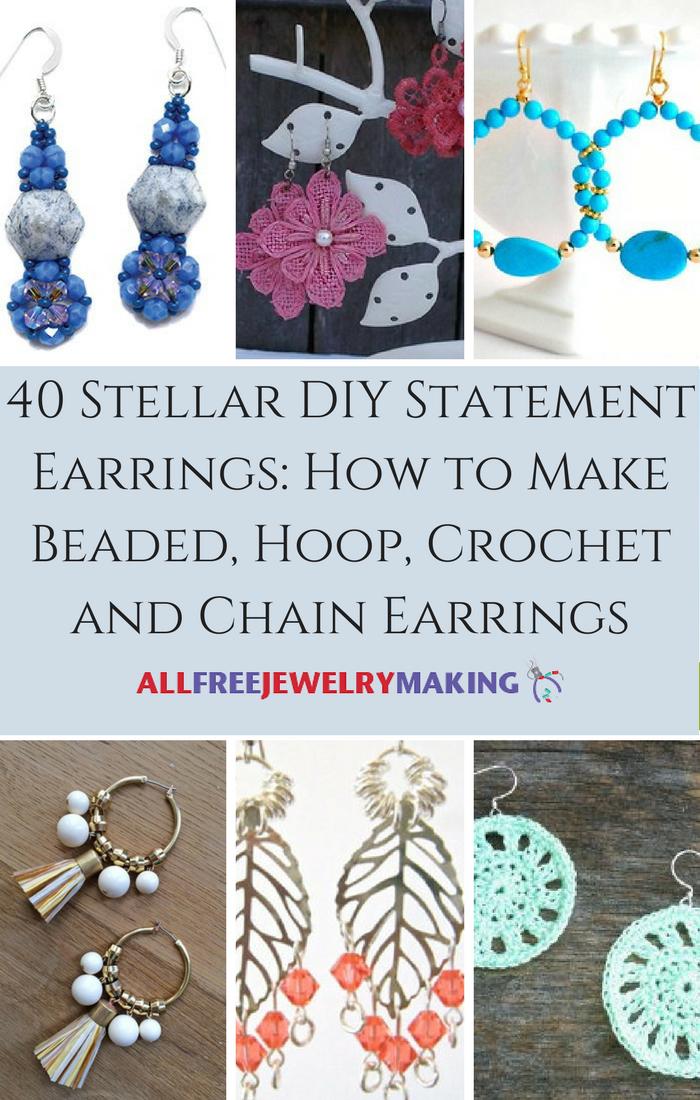 40 Stellar DIY Statement Earrings: How to Make Beaded, Hoop ...