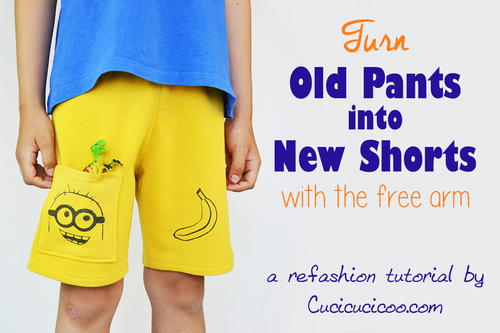 Turn Old Pants into New Shorts