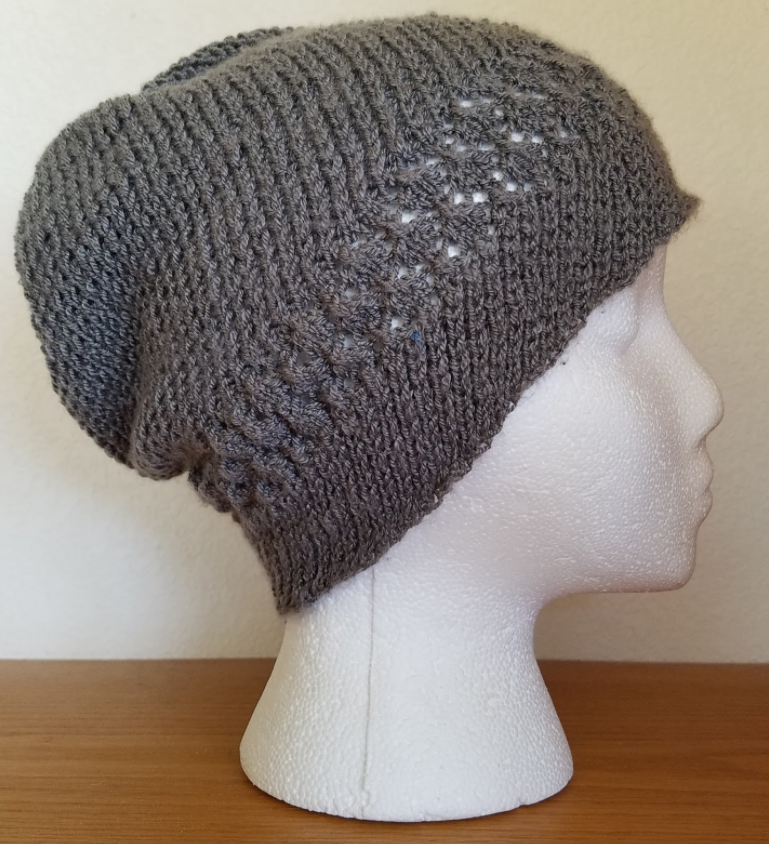 Kelsey Lace and Spiral Knit Hat Pattern | AllFreeKnitting.com