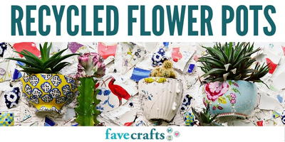 Recycled Flower Pots