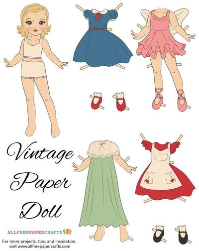 32 Free Printable Paper Dolls and Other Printable Paper Crafts ...
