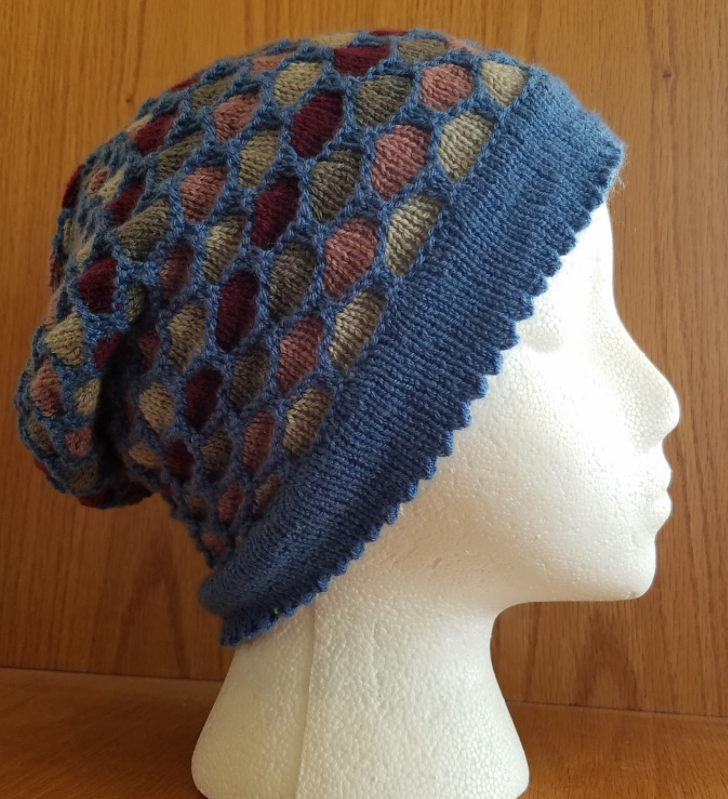 Holy Honeycomb Knit Hat Pattern | AllFreeKnitting.com
