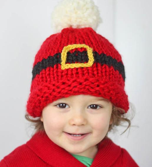 Santas Belt Baby Hat Pattern Allfreeknitting