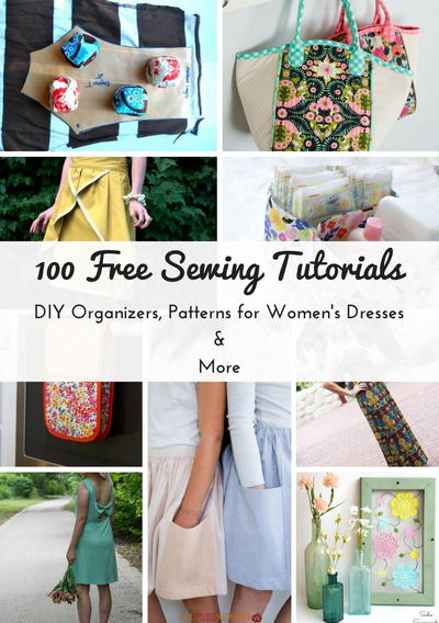 100 Free Sewing Tutorials Diy Organizers Patterns For Womens