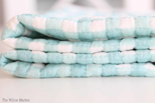 Hand Quilted Cotton Gauze Baby Blanket