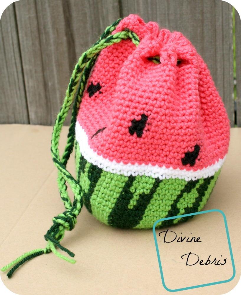 Wonderful Watermelon Bag | AllFreeCrochet.com