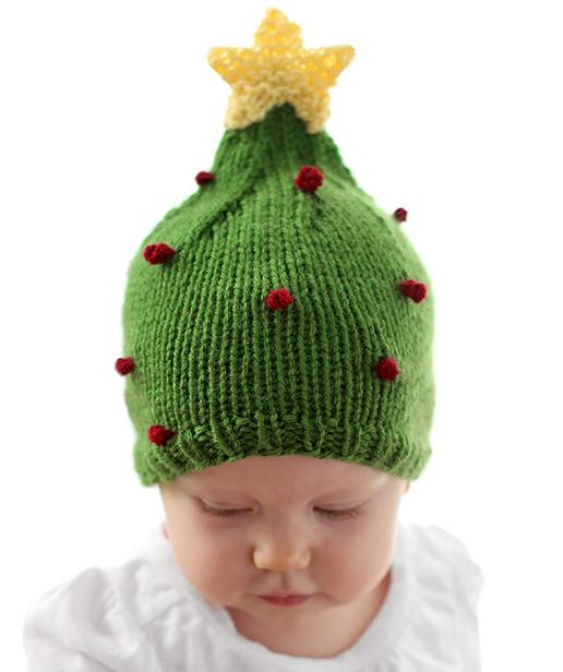 Christmas Tree Baby Hat Pattern Allfreeknitting Com