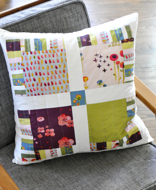 Pretty Patterned Pinwheel Pillow