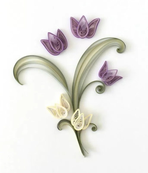 Delicately Quilled Paper Tulip