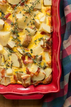 Bacon Potato Quiche Casserole