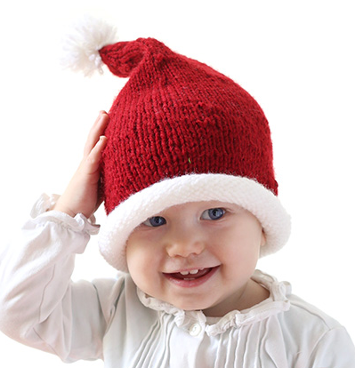 Stockinette Baby Santa Hat Pattern Allfreeknitting