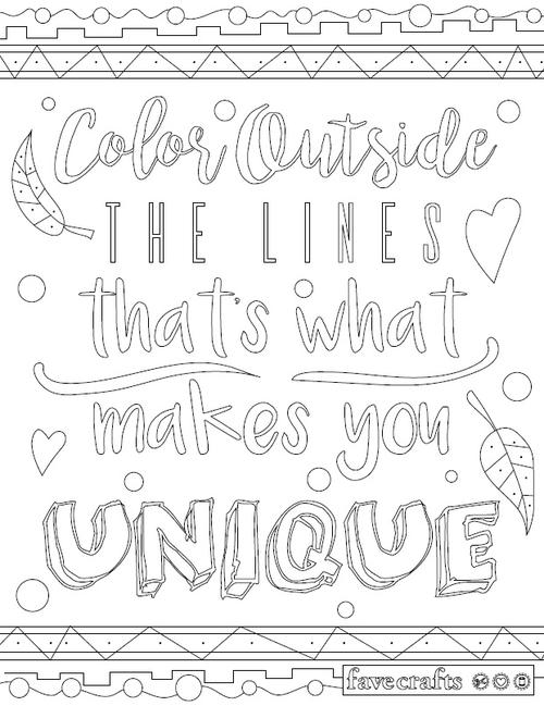 Coloring Outside The Lines Page