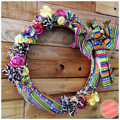 Paper Napkins Summertime Wreath
