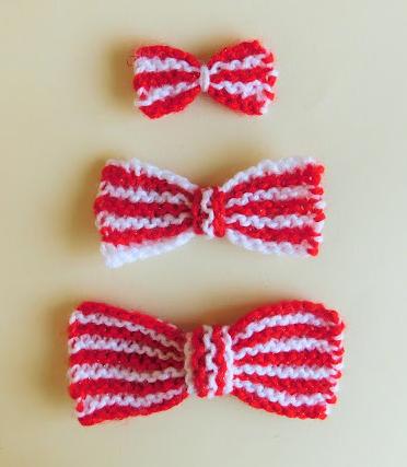 Super Striped Knit Bow Pattern Allfreeknitting