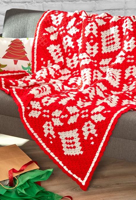 Snowflake Afghan Corner to Corner Crochet Pattern ...