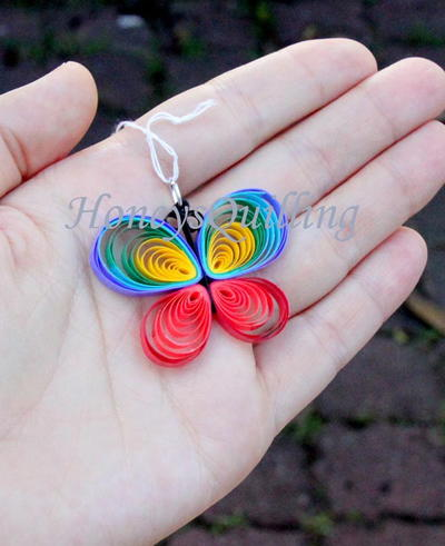 Colorful Quilled Butterfly
