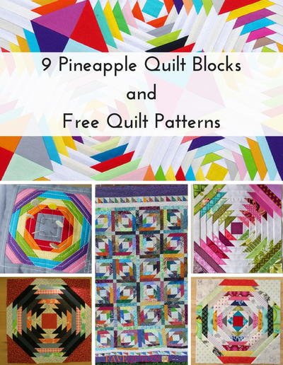 9 Pineapple Quilt Blocks and Free Quilt Patterns | FaveQuilts.com : pineapple quilt tutorial - Adamdwight.com