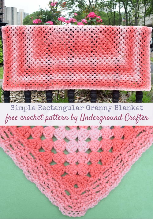 Simple Rectangular Granny Blanket