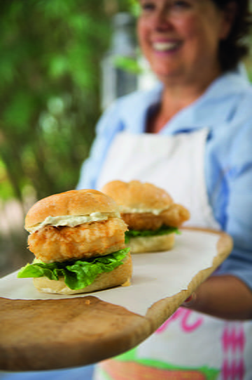 Fried Grouper Sandwiches with Herbed Tartar Sauce