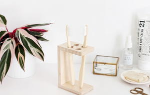 Wooden DIY Toothbrush Holder