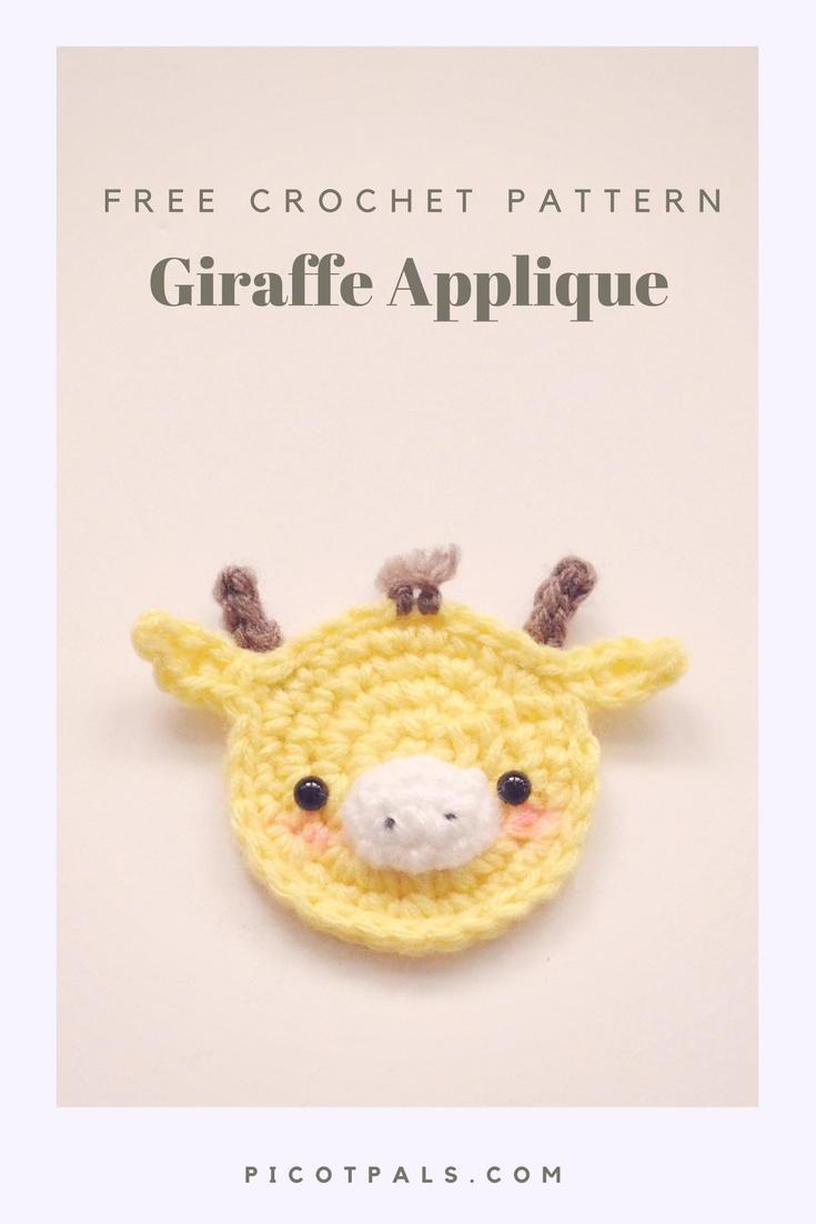 Giraffe Applique Allfreecrochet