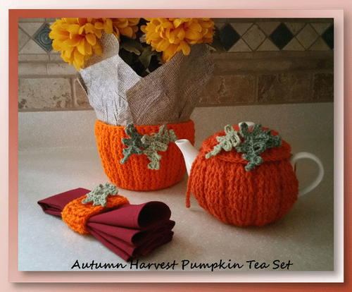 Autumn Harvest Pumpkin Tea Cozy