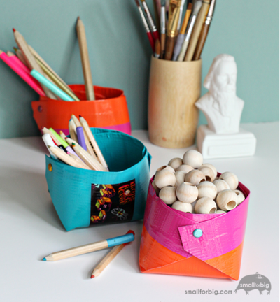 DIY Duct Tape Craft Storage