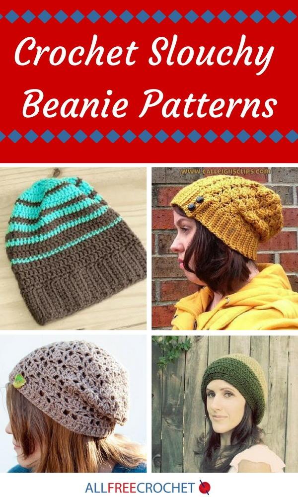 21 crochet slouchy beanie patterns allfreecrochet dt1010fo