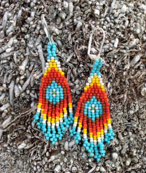 Colorful Beaded DIY Dangle Earrings